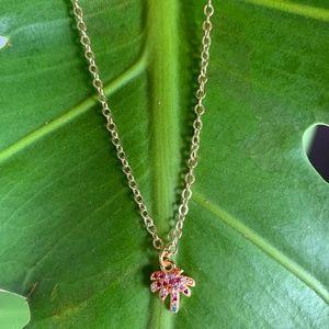 Rainbow Baby Palm Tree Necklace